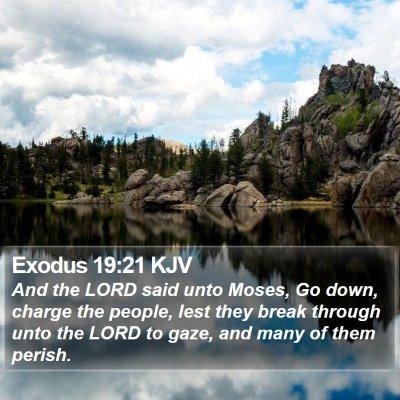 Exodus 19:21 KJV Bible Verse Image