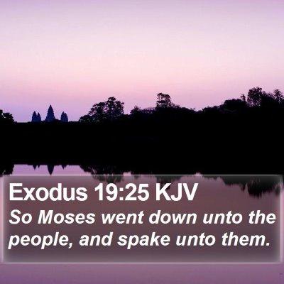 Exodus 19:25 KJV Bible Verse Image