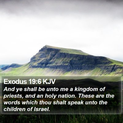 Exodus 19:6 KJV Bible Verse Image