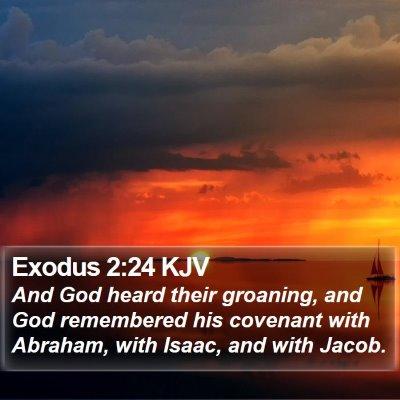 Exodus 2:24 KJV Bible Verse Image