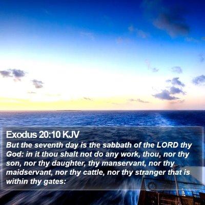 Exodus 20:10 KJV Bible Verse Image