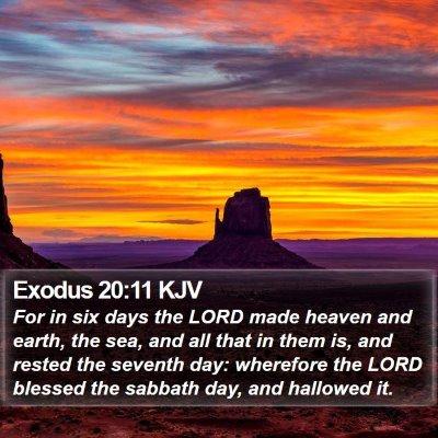Exodus 20:11 KJV Bible Verse Image