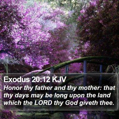 Exodus 20:12 KJV Bible Verse Image