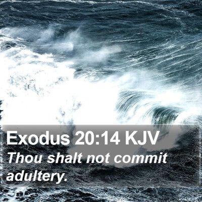 Exodus 20:14 KJV Bible Verse Image