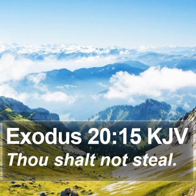 Exodus 20:15 KJV Bible Verse Image