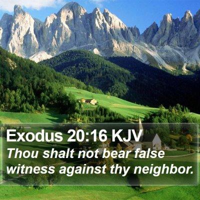 Exodus 20:16 KJV Bible Verse Image