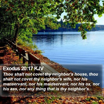 Exodus 20:17 KJV Bible Verse Image