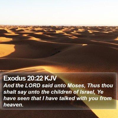 Exodus 20:22 KJV Bible Verse Image