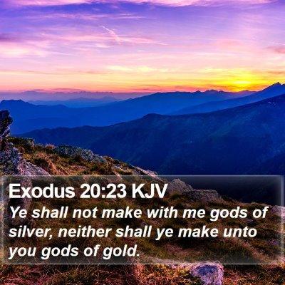 Exodus 20:23 KJV Bible Verse Image