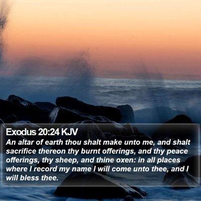 Exodus 20:24 KJV Bible Verse Image