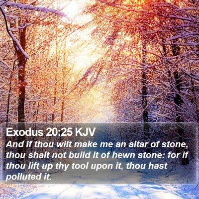 Exodus 20:25 KJV Bible Verse Image
