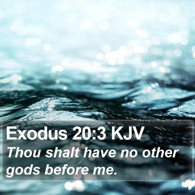 Exodus 20:3 KJV Bible Verse Image