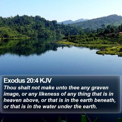 Exodus 20:4 KJV Bible Verse Image