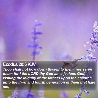 Exodus 20:5 KJV Bible Verse Image