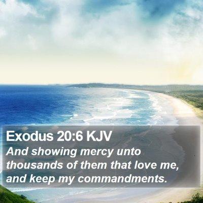 Exodus 20:6 KJV Bible Verse Image