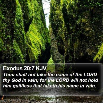 Exodus 20:7 KJV Bible Verse Image