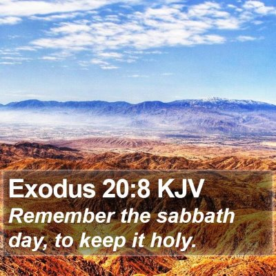 Exodus 20:8 KJV Bible Verse Image