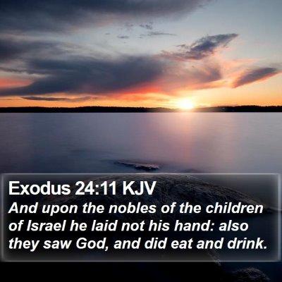 Exodus 24:11 KJV Bible Verse Image
