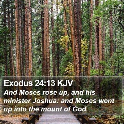 Exodus 24:13 KJV Bible Verse Image