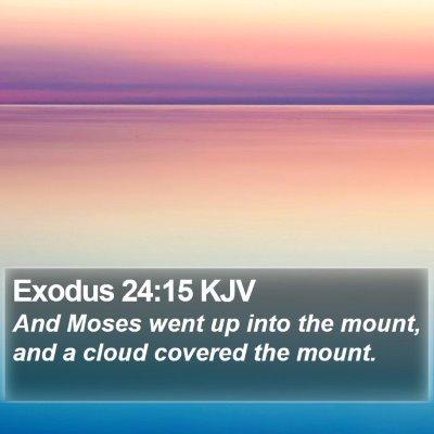 Exodus 24:15 KJV Bible Verse Image
