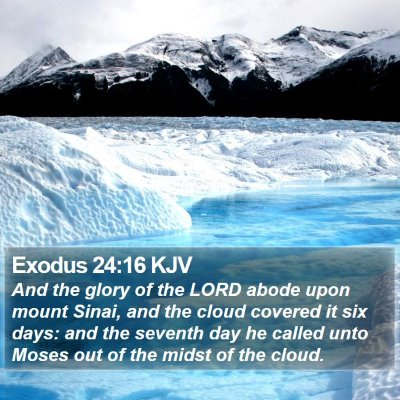 Exodus 24:16 KJV Bible Verse Image