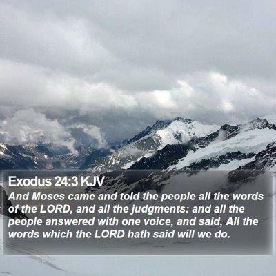 Exodus 24:3 KJV Bible Verse Image