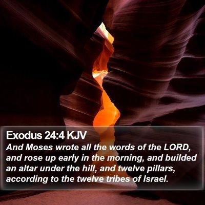 Exodus 24:4 KJV Bible Verse Image