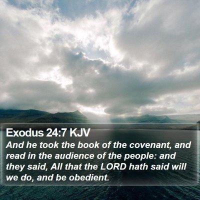 Exodus 24:7 KJV Bible Verse Image