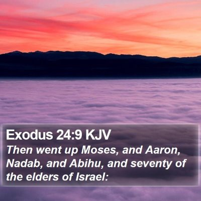Exodus 24:9 KJV Bible Verse Image