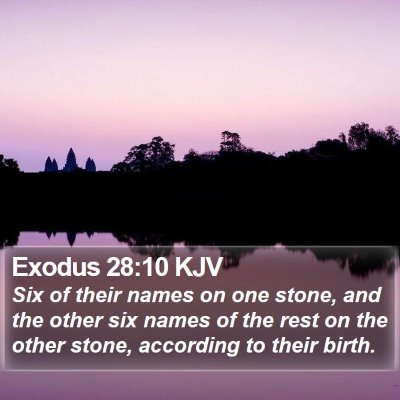Exodus 28:10 KJV Bible Verse Image