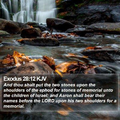 Exodus 28:12 KJV Bible Verse Image