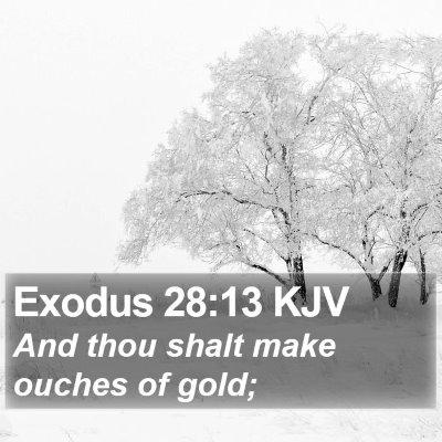 Exodus 28:13 KJV Bible Verse Image