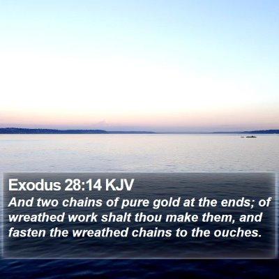 Exodus 28:14 KJV Bible Verse Image