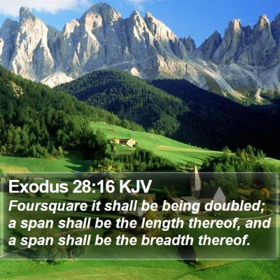 Exodus 28:16 KJV Bible Verse Image