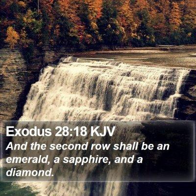 Exodus 28:18 KJV Bible Verse Image