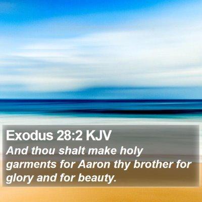 Exodus 28:2 KJV Bible Verse Image