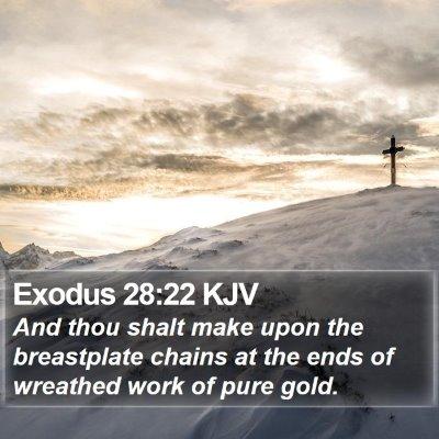 Exodus 28:22 KJV Bible Verse Image