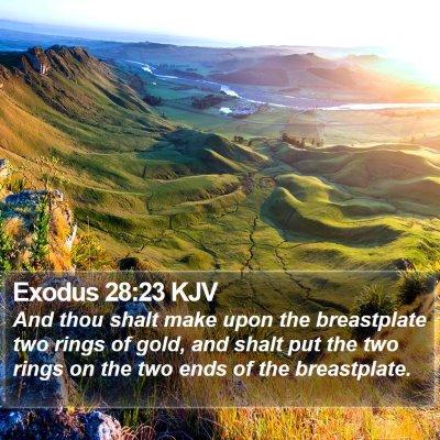 Exodus 28:23 KJV Bible Verse Image
