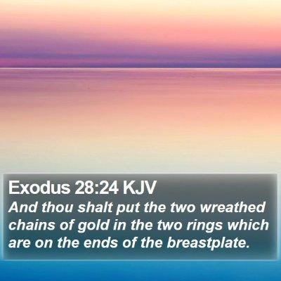 Exodus 28:24 KJV Bible Verse Image