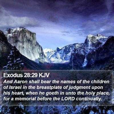 Exodus 28:29 KJV Bible Verse Image