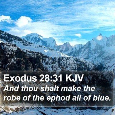 Exodus 28:31 KJV Bible Verse Image