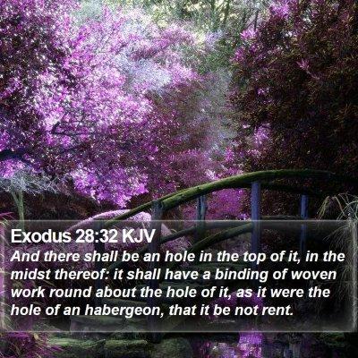 Exodus 28:32 KJV Bible Verse Image