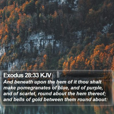 Exodus 28:33 KJV Bible Verse Image