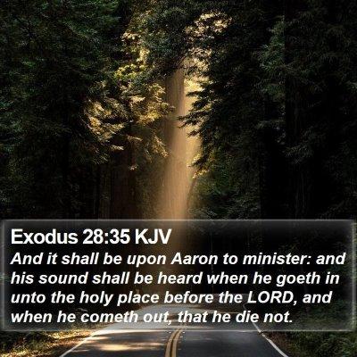 Exodus 28:35 KJV Bible Verse Image