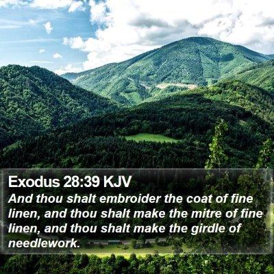 Exodus 28:39 KJV Bible Verse Image