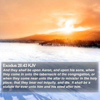 Exodus 28:43 KJV Bible Verse Image