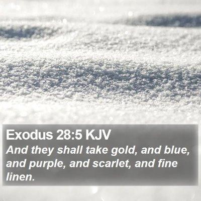 Exodus 28:5 KJV Bible Verse Image