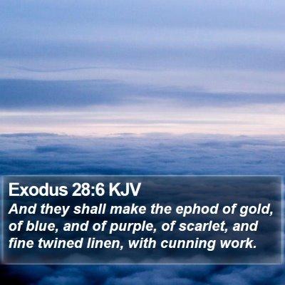 Exodus 28:6 KJV Bible Verse Image