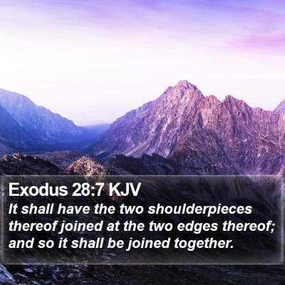 Exodus 28:7 KJV Bible Verse Image