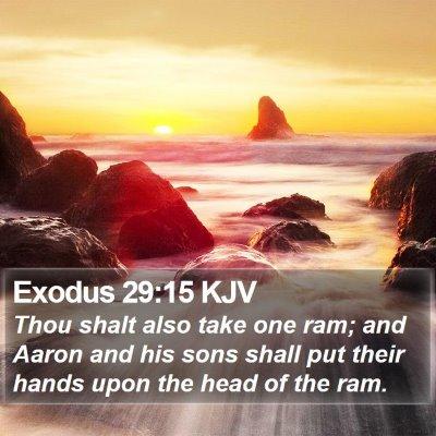 Exodus 29:15 KJV Bible Verse Image